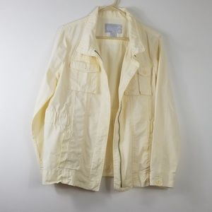 Old Navy Zippered Jacket Yellow Size L